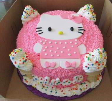 Cara Mudah Membuat Cake Hello Kitty Httpresepnyakuecom